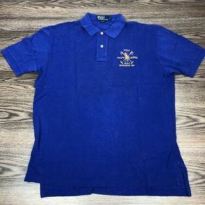 Polo Ralph Lauren Blue Club Crest Polo Shirt L